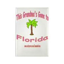 GRANDMA OFF TO FLORIDA Rectangle Magnet