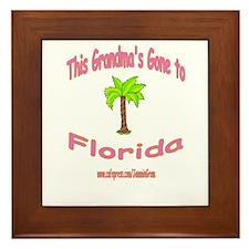 GRANDMA OFF TO FLORIDA Framed Tile