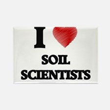 I love Soil Scientists (Heart made from wo Magnets