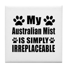 My Australian Mist cat is simply irre Tile Coaster