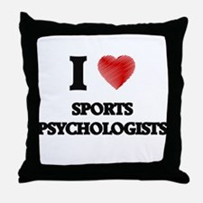 I love Sports Psychologists (Heart ma Throw Pillow