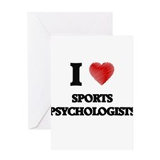 I love Sports Psychologists (Heart Greeting Cards