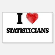 I love Statisticians (Heart made from word Decal