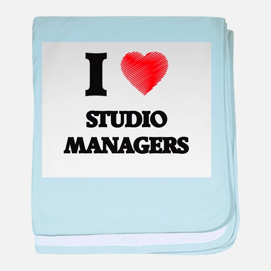 I love Studio Managers (Heart made fr baby blanket