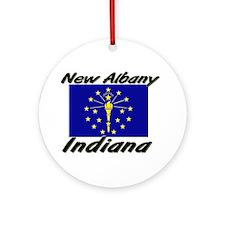 New Albany Indiana Ornament (Round)