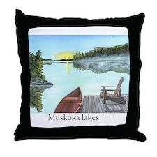 Funny Muskoka Throw Pillow