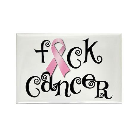 F Cancer Rectangle Magnet