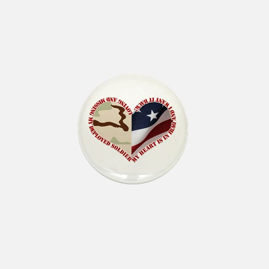 My heart is in Iraq and I wan Mini Button