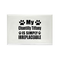 My Chantilly Tiffany cat is simpl Rectangle Magnet