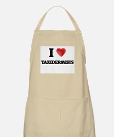 I love Taxidermists (Heart made from words) Apron