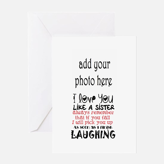 love you like a sister Greeting Cards