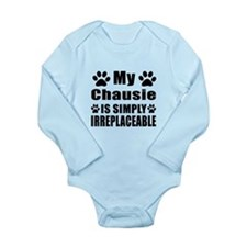 My Chausie cat is simp Long Sleeve Infant Bodysuit