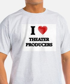 I love Theater Producers (Heart made from T-Shirt