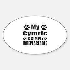 My Cymric cat is simply irreplaceab Decal