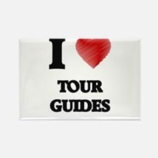 I love Tour Guides (Heart made from words) Magnets