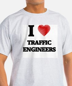 I love Traffic Engineers (Heart made from T-Shirt