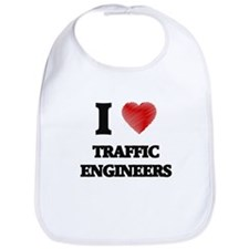 I love Traffic Engineers (Heart made from word Bib