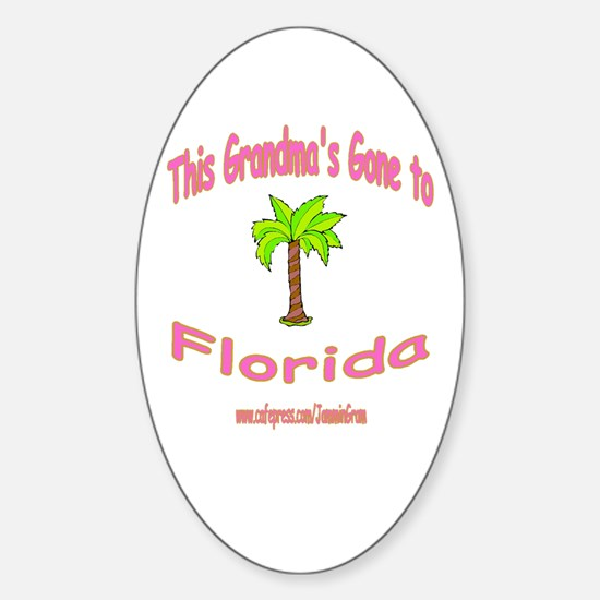 NANA OFF TO FLORIDA Oval Decal