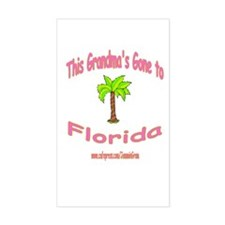 NANA OFF TO FLORIDA Rectangle Decal