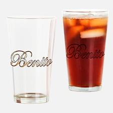 Cute Benito Drinking Glass
