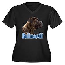 Bullmastiff(brindle)Name Women's Plus Size V-Neck