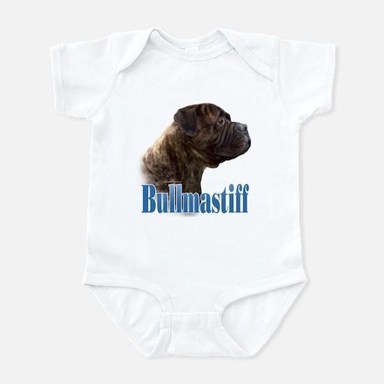 Bullmastiff(brindle)Name Infant Bodysuit