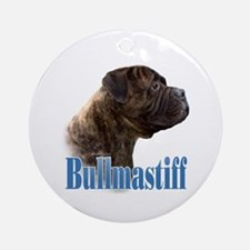 Bullmastiff(brindle)Name Ornament (Round)