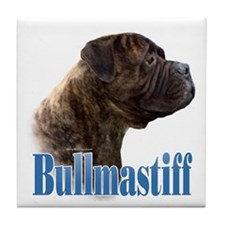 Bullmastiff(brindle)Name Tile Coaster