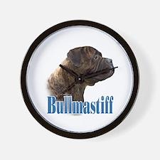 Bullmastiff(brindle)Name Wall Clock