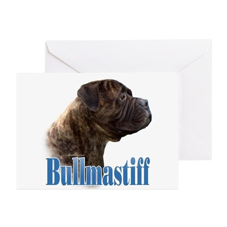 Bullmastiff(brindle)Name Greeting Cards (Pk of 10)