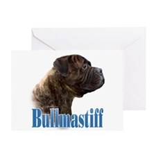 Bullmastiff(brindle)Name Greeting Card