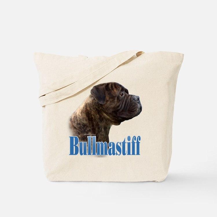 Bullmastiff(brindle)Name Tote Bag