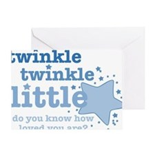 Twinkle Blue Greeting Cards