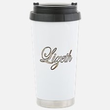 Gold Lizeth Stainless Steel Travel Mug