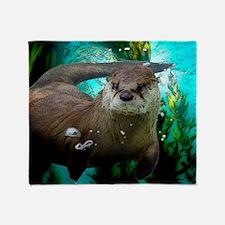 Cute Marine mammals Throw Blanket