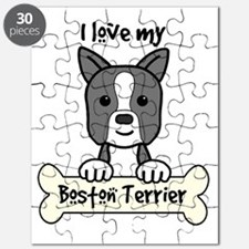 Cute Boston terrier christmas Puzzle