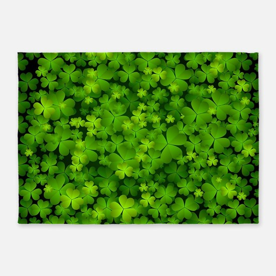 Beautiful Irish Shamrocks 5'x7'Area Rug