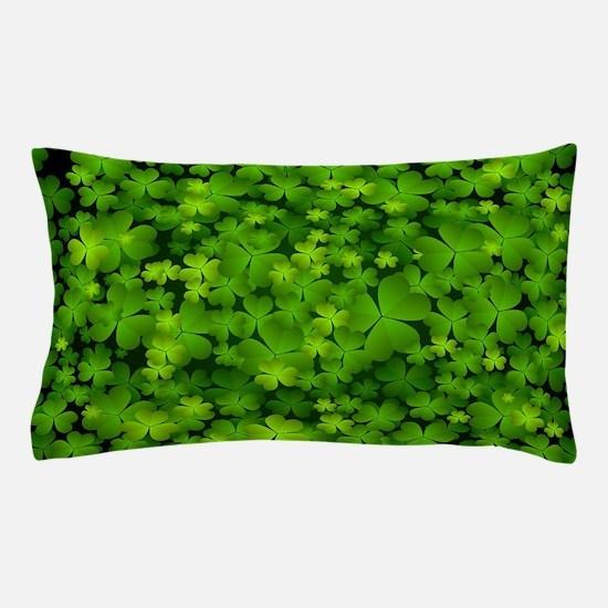 Beautiful Irish Shamrocks Pillow Case