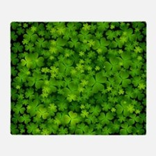 Beautiful Irish Shamrocks Throw Blanket