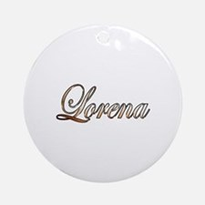Cute Lorena Round Ornament
