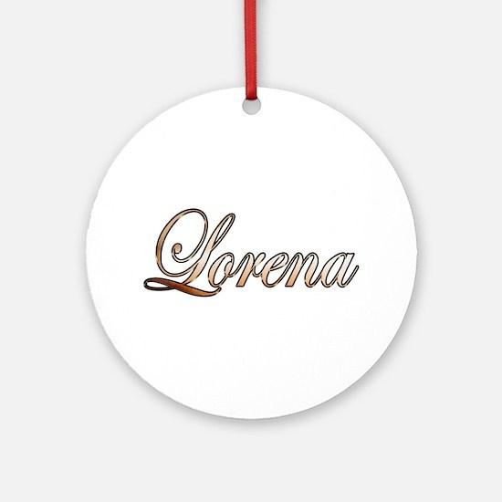 Cute Lorena Round Ornament
