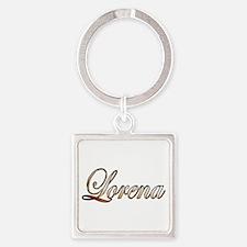 Cute Lorena Square Keychain
