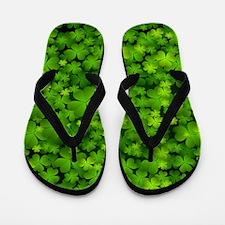 Beautiful Irish Shamrocks Flip Flops