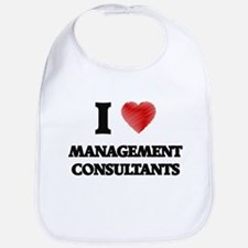 I love Management Consultants (Heart made from Bib