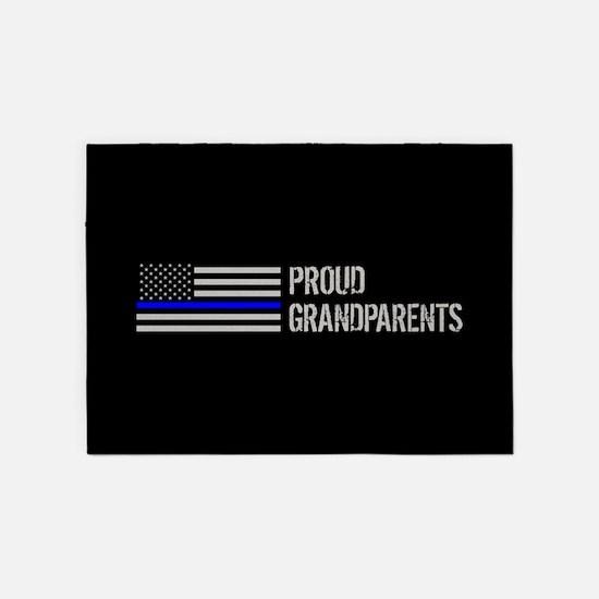 Police: Proud Grandparents 5'x7'Area Rug