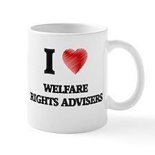 I love Welfare Rights Advisers (Heart made fr Mugs