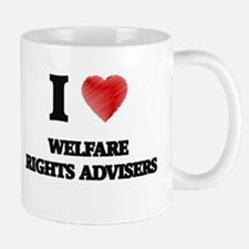 I love Welfare Rights Advisers (Heart made fr Mugs