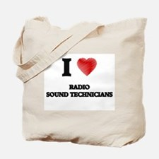 I love Radio Sound Technicians (Heart mad Tote Bag