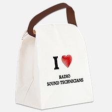 I love Radio Sound Technicians (H Canvas Lunch Bag