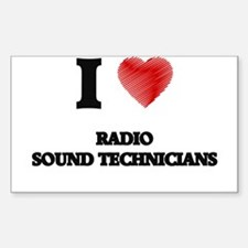 I love Radio Sound Technicians (Heart made Decal